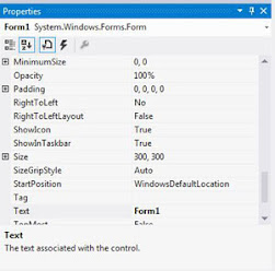 Properties Window in Visual Studio