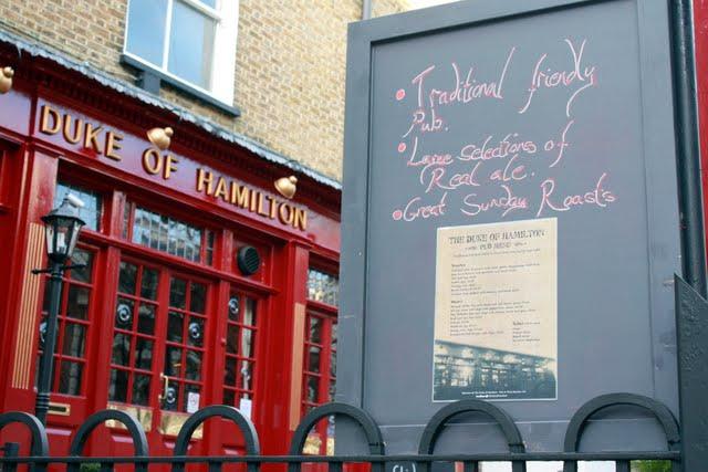 Duke of Hamilton Pub in Hampstead London