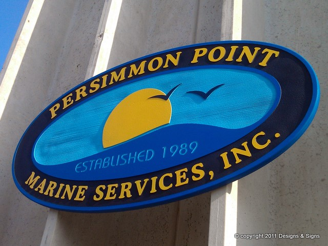 sandblasted sign - persimmon point