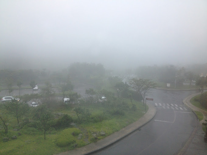 Bad weather in Jeju