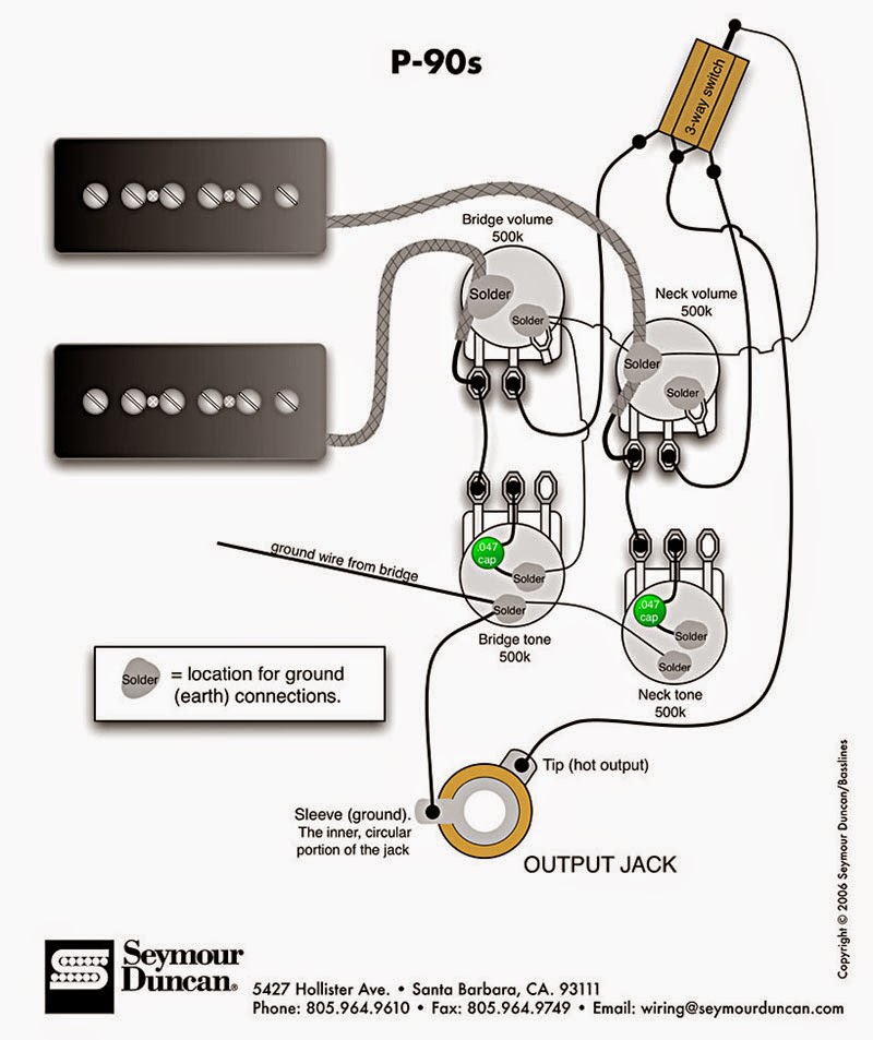 SD_p90_wiring p90 wiring schematics, which one? my les paul forum les paul p90 wiring diagram at alyssarenee.co