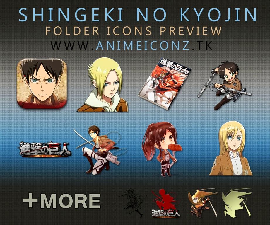 Preview Shingeki No Kyojin Folder Icons Pack 03