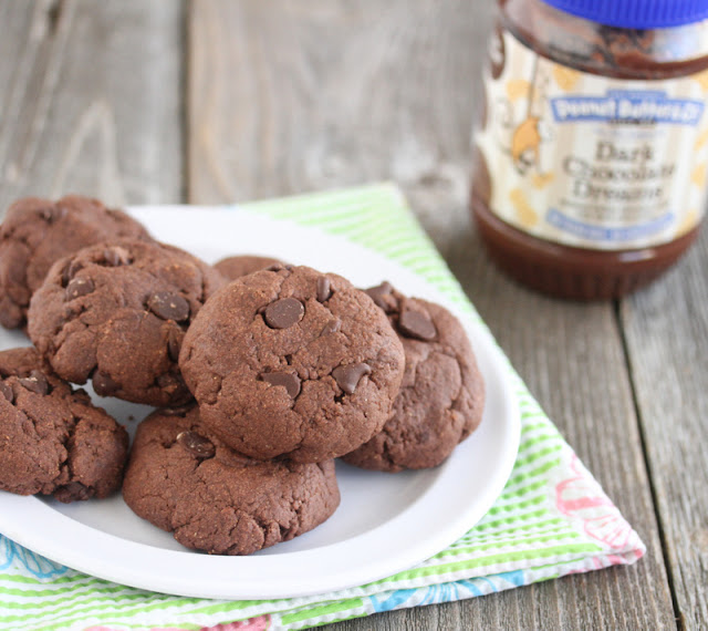photo of a plate of Chocolate Peanut Butter Cookies