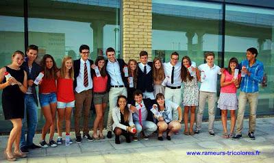 France - Grande-Bretagne cadets 2013 L'équipe de France équipée de ses gourdes AIA