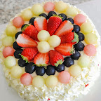 Eggless Fresh Cream Melon Ball Cake