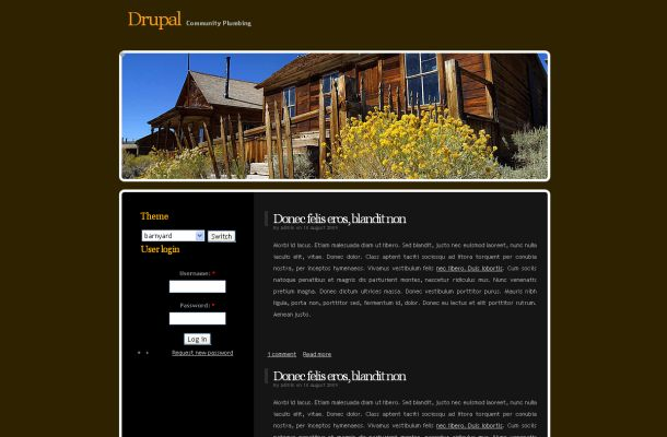 Free Drupal Black Brown Business Theme Template
