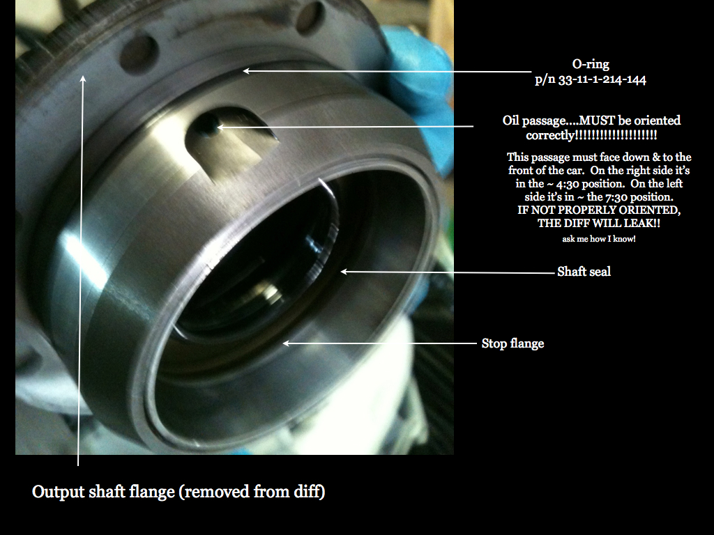 e39 m5 differential input shaft seal