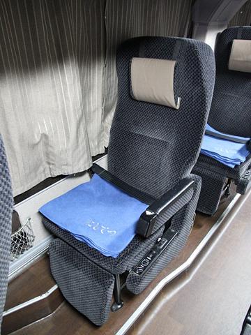 西日本鉄道「はかた号」 0002 2階席ビジネスシート その2