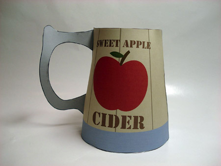 Apple Cider Tankard Papercraft