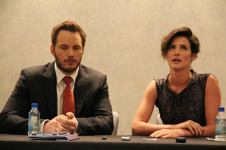 Chris Pratt (Brett) and Cobie Smulders (Emma) from Delivery Man #DeliveryManEvent