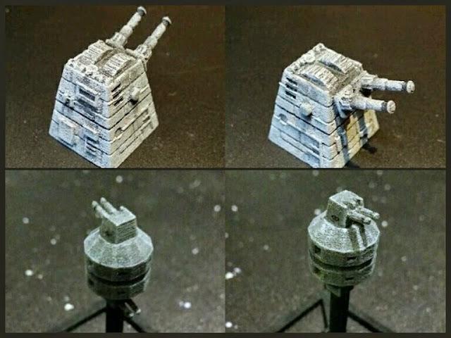Torreta laser y Batería laser del Imperio de Mel Miniatures