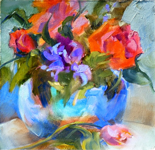 Sharon lynn williams 39 art blog posies oil painting by for Sharon williams paint