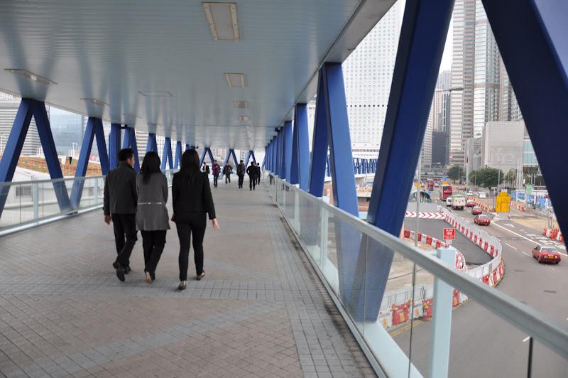 Надземные пешеходные дорожки в Гонконге