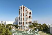 הצעה לאגף חדש למבנה דיור מוגן בפינת הרחובות אינשטיין וברודצקי