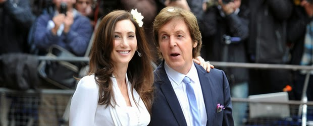 Sir Paul McCartney and wife, Nancy Shevell