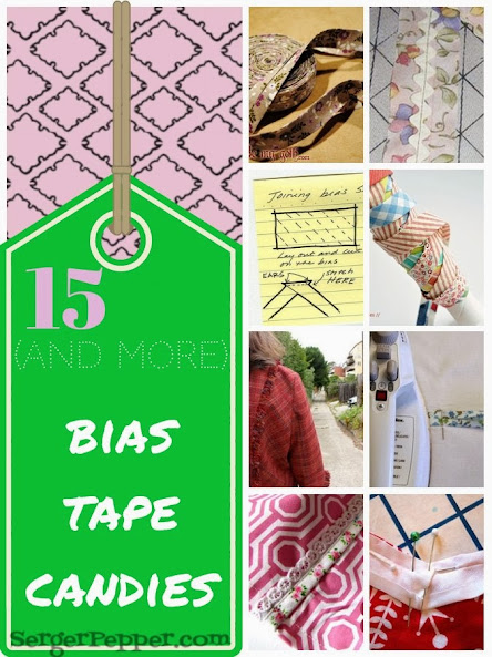 Serger Pepper - Bias Tape - 15 and more