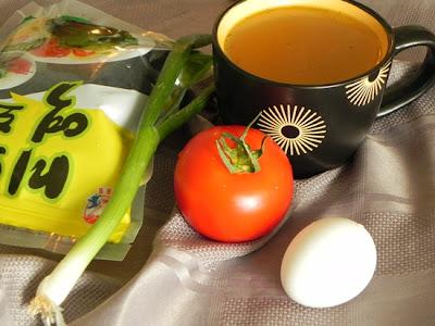 Водоросли с помидорами. Суп.