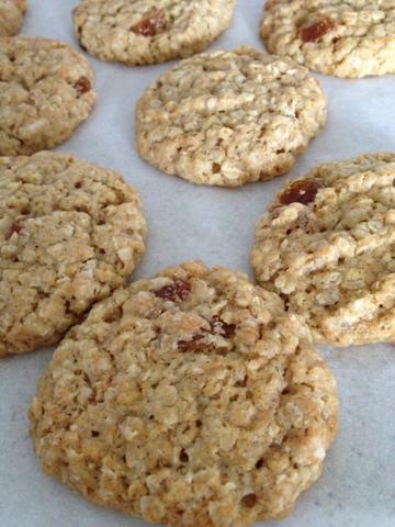 cookie, flocon d'avoine, raisins secs, oatmeal, cannelle