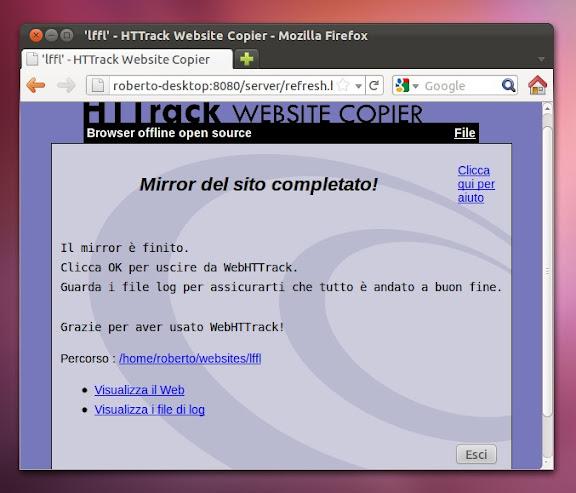 un intero sito con ubuntu