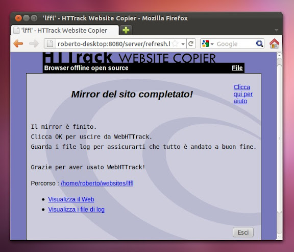 sito intero ubuntu