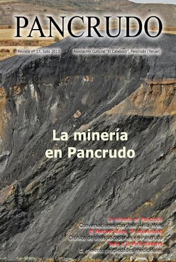 Portada Revista Pancrudo nº17 (2013). Capas de carbón (Pascual Tolosa Sancho)