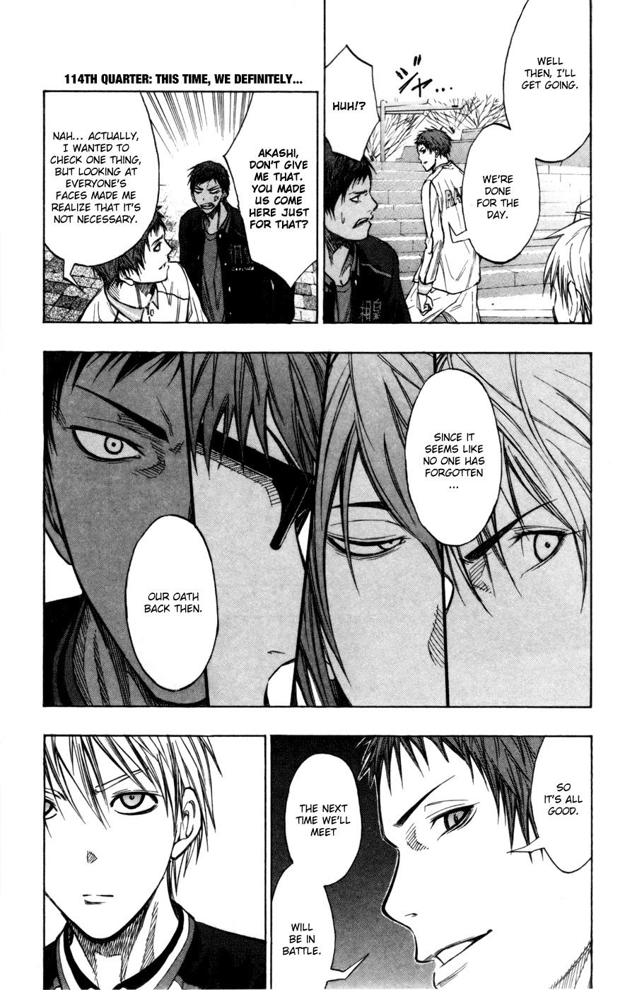 Kuroko no Basket Manga Chapter 114 - Image 01