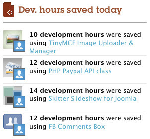 Development hours saved on Binpress