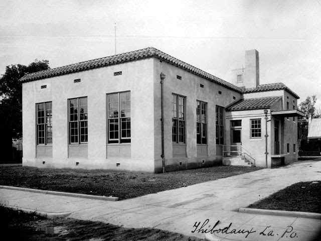 Thibodaux, LA post office, 1926 (rear view)