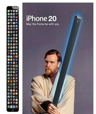 Apple iPhone 20. May the Force be with you. Que a Força esteja contigo.