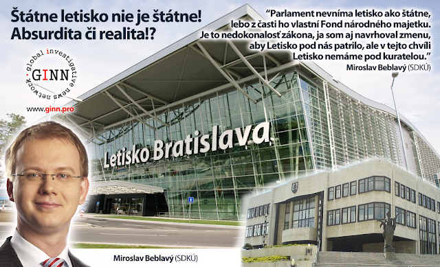 Štátne letisko Bratislava nie je štátne