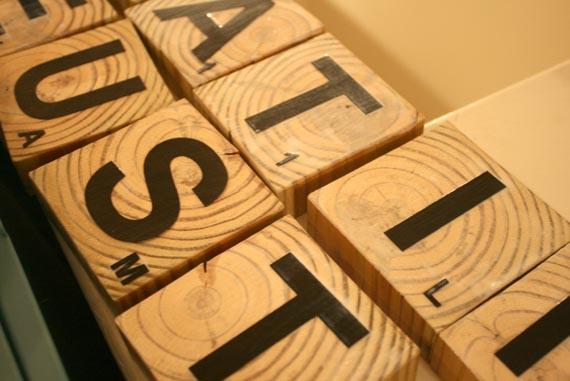 Remodelaholic Scrabble Living Large Family Names Art