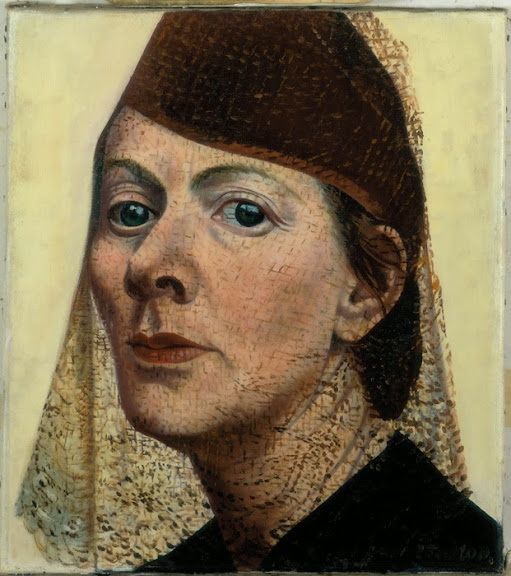 Charley Toorop - Self Portrait with Hat and Voile, 1938