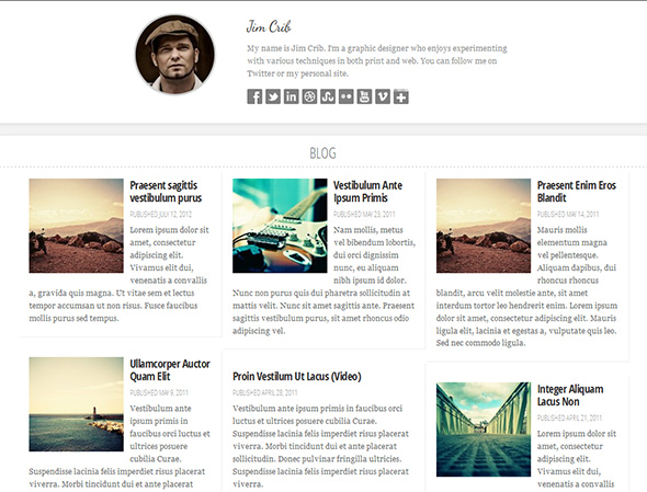 Persona Responsive Grid Based Theme