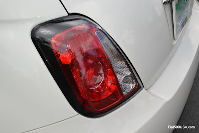 Fiat 500 black trim tailights by Mopar