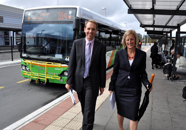 transport plan launch with simon corbell and katy gallagher