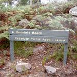 Sign post on Headland Track (28160)