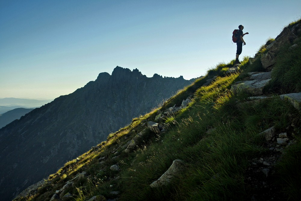 Podejście na Przełęcz pod Chłopkiem