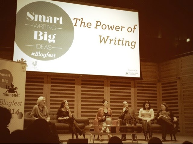 The Power of Writing panel at Mumsnet Blogfest 2014