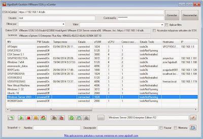 AjpdSoft Gestión VMware ESXi y vCenter