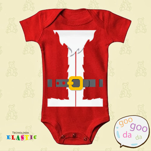 Inspiração: papai noel - body bebe
