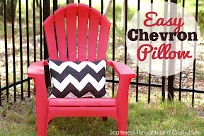 Chevron Stenciled Pillow