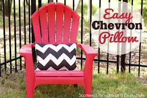 Chevron Stenciled Pillow