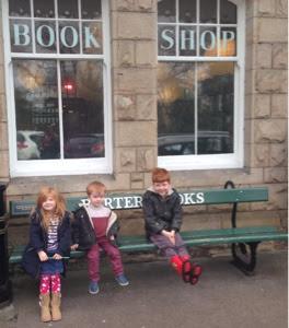 north east family fun outside of barter books in northumberland
