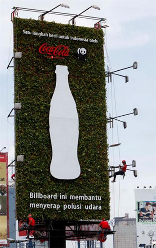 Coca-Cola Plant Green Billboard Jakarta