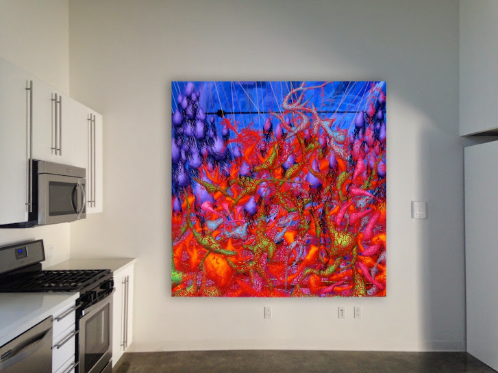Victor Angelo Artist Biomorphic Abstraction Interior Design Magazine Modern Paintings