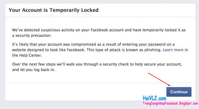 mở khóa facebook khi bị block nick khóa nick facebook