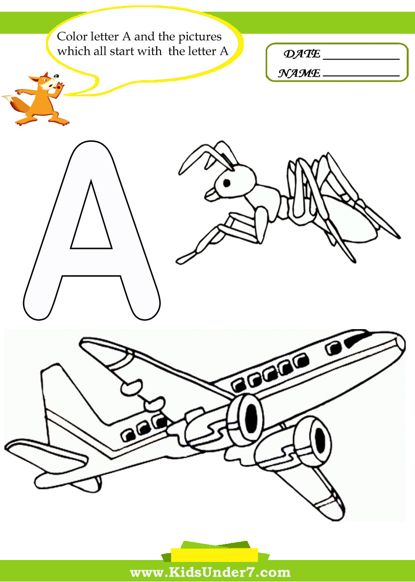 letter a worksheets and coloring pages