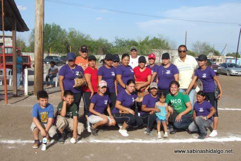 Cazadoras de Villaldama en el softbol femenil del Club Sertoma