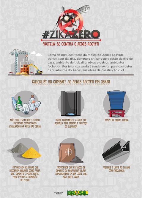 Obras de Turismo terão fiscalização contra o Aedes