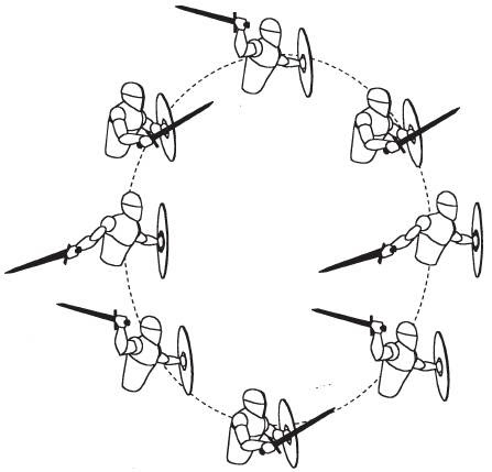 Каждую из стоек можно быстрым плавным движением заменить на любую другую